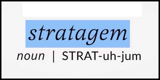 Learn word Stratagem Meaning