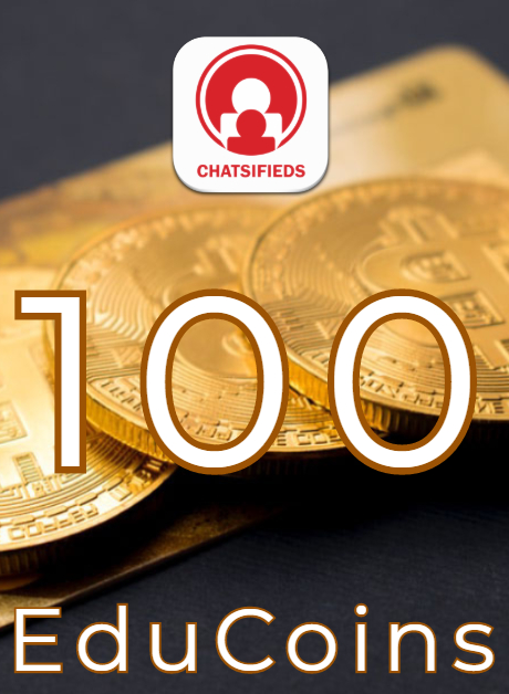 100 EduCoins Giftcard coupon and voucher Chatsifieds